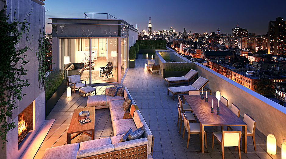 Unique Amp Spectacular Penthouses For Sale In Soho Nyc One Vandam Nyc