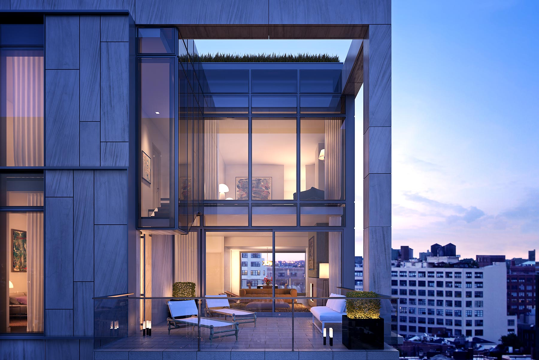 Unique Spectacular Penthouses For Sale In Soho NYC One Vandam NYC