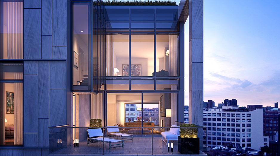 Unique spectacular penthouses for sale in soho nyc one for Penthouses for sale in nyc