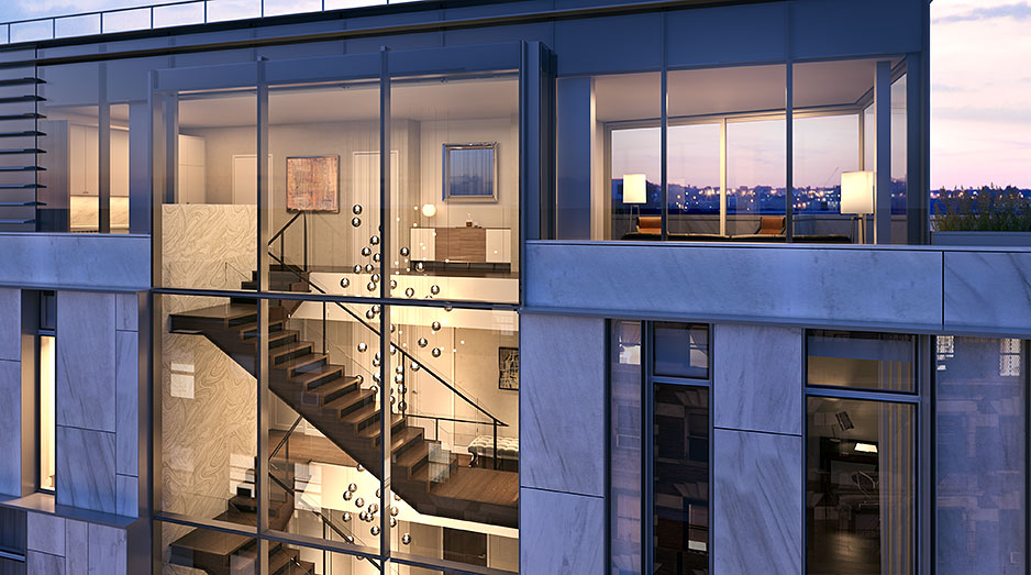 Unique spectacular penthouses for sale in soho nyc one for Nyc duplex for sale